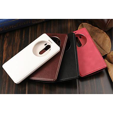 Capinha Para LG LG G5 LG G4 Capinha LG Com Suporte com Visor Capa Proteção Completa Côr Sólida Rígida PU Leather para LG G6