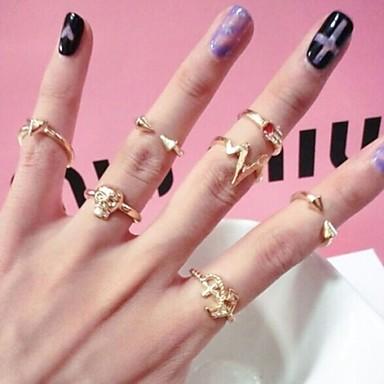 Κρίκοι Γάμου / Πάρτι / Καθημερινά / Causal / Αθλητικά Κοσμήματα Κράμα Γυναικεία Δαχτυλίδια για τη Μέση του Δαχτύλου 1pc,7