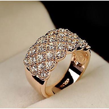 Dames Legering Statement Ring - Modieus Zilver / Gouden Ring Voor Bruiloft / Feest / Dagelijks