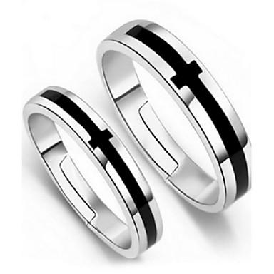 Γυναικεία Ασημί Cruce Δακτύλιος Δήλωσης - Προσαρμόσιμη Ασημί Δαχτυλίδι Για Πάρτι