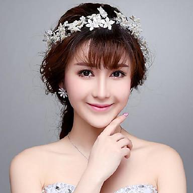 Vrouwen Imitatie Parel Helm-Bruiloft Speciale gelegenheden Buiten Bloemen 1 Stuk