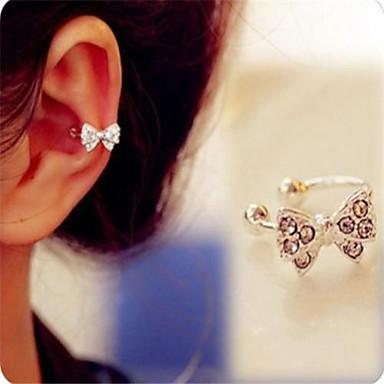 Feminino Punhos da orelha bijuterias Imitações de Diamante Liga Formato de Laço Jóias Para Diário