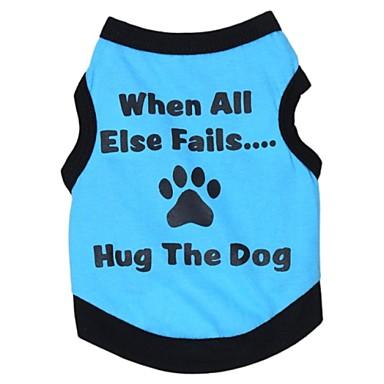 Kat Hond T-shirt Hondenkleding Letter & Nummer Grijs Groen Blauw Roze Katoen Kostuum Voor huisdieren Cosplay