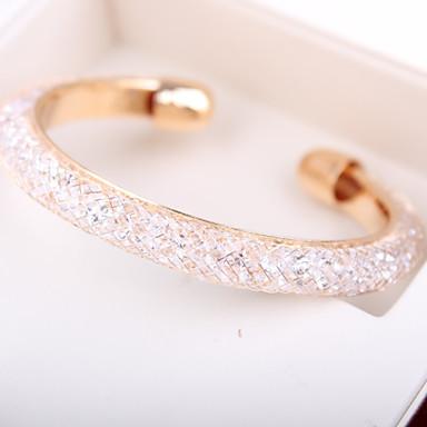 Feminino Pulseiras Algema Original Moda Estilo simples Confeccionada à Mão Personalizado Europeu bijuterias Strass Liga Jóias Jóias Para