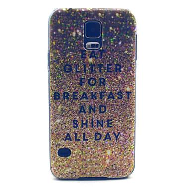 glitter ontbijt patroon pc harde case voor Samsung i9600 s5