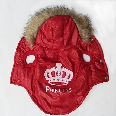 katten / honden Jassen / Hoodies Rood / Oranje Hondenkleding Winter Tiara's & Kronen / Letter & Nummer Cosplay