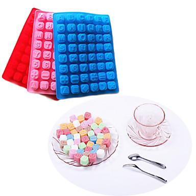 48 letter alfabet siliconen cakevorm bakken chocolade ijsblokjesbakje (willekeurige kleur)