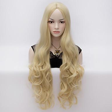 Συνθετικά μαλλιά Περούκες Κυματομορφή Σώματος Χωρίς κάλυμμα Καρναβάλι περούκα Απόκριες Περούκα πολύ μακριά