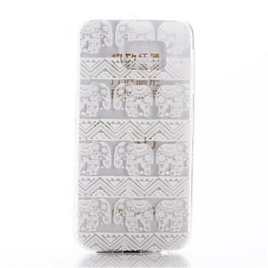 Para Samsung Galaxy Capinhas Transparente Capinha Capa Traseira Capinha Elefante TPU Samsung S6