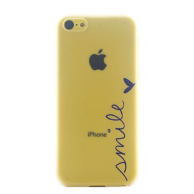 glimlach patroon ultradunne harde hoesje voor iPhone 5c