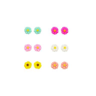Γυναικεία Ηλιοτρόπιο Επάργυρο Κουμπωτά Σκουλαρίκια - Ηλιοτρόπιο Λουλούδι Σκουλαρίκια Για Καθημερινά Causal Αθλητικά