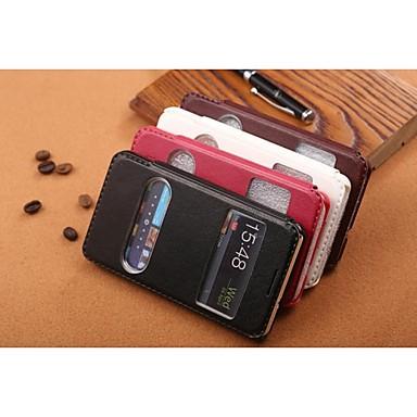 Para Samsung Galaxy Capinhas Com Suporte / com Visor / Flip / Com Relevo Capinha Corpo Inteiro Capinha Cor Única Couro PU para SamsungS7