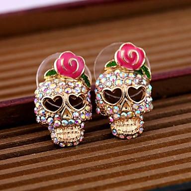 Γυναικεία Κουμπωτά Σκουλαρίκια Κράμα Κρανίο Κοσμήματα Ροζ Καθημερινά Causal Κοστούμια Κοσμήματα