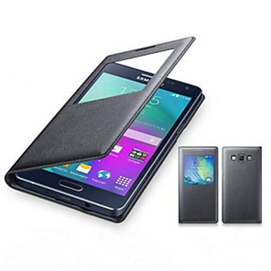 hoge kwaliteit originele met venster flip lederen case cover voor Samsung Galaxy A8 / A7 / A5 / A3 (verschillende kleuren)