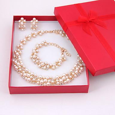 Γυναικεία Μαργαριτάρι Κοσμήματα Σετ Περιλαμβάνω Cercei Κολιέ Βραχιόλι - Μοντέρνα Μαργαριτάρι Κράμα Σετ Κοσμημάτων Για Γάμου Πάρτι Ειδική