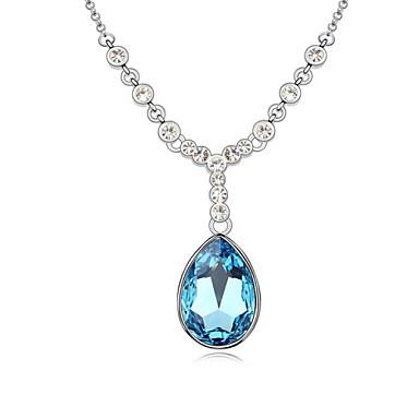 Kadın's Uçlu Kolyeler Mücevher Mücevher Değerli Taş alaşım Eşsiz Tasarım Moda Beyaz Koyu Mavi Açık Mavi Mücevher Için Parti Günlük 1pc