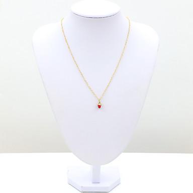 Dames Modieus Europees Hangertjes ketting Kristal Strass Gesimuleerde diamant 18K goud Oostenrijks kristal Hangertjes ketting ,