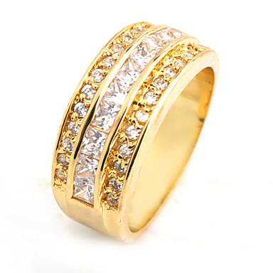 Anéis Casamento / Pesta / Diário / Casual / Esportes Jóias Zircão / Gema Feminino Anéis Grossos 1pç,10Azul Escuro / Branco / Vermelho /