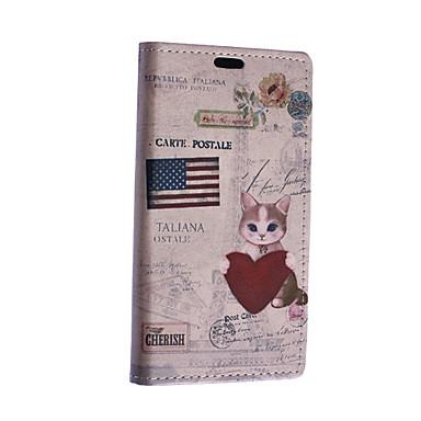 Para Capinha Nokia Carteira / Porta-Cartão / Com Suporte Capinha Corpo Inteiro Capinha Gato Rígida Couro PU Nokia Nokia Lumia 640