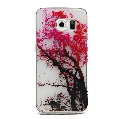 Para Samsung Galaxy Capinhas Estampada Capinha Capa Traseira Capinha Árvore TPU Samsung S6 edge