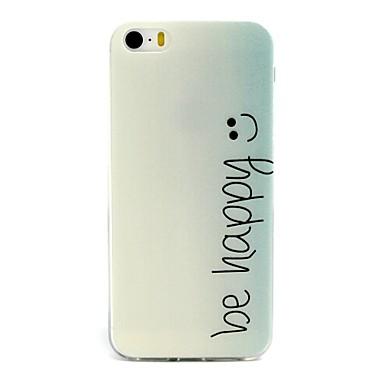 Voor iPhone 5 hoesje Patroon hoesje Achterkantje hoesje Woord / tekst Zacht TPU iPhone SE/5s/5