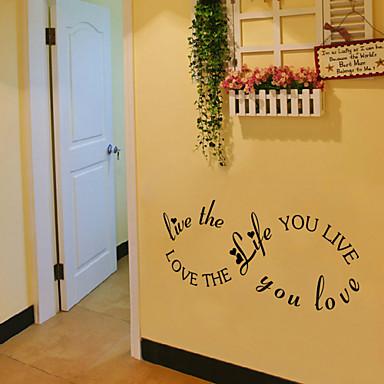 Λέξεις & Αποσπάσματα Αυτοκολλητα ΤΟΙΧΟΥ Λέξεις & Τιμές Αυτοκόλλητα τοίχου Διακοσμητικά αυτοκόλλητα τοίχου, Βινύλιο Αρχική Διακόσμηση Wall