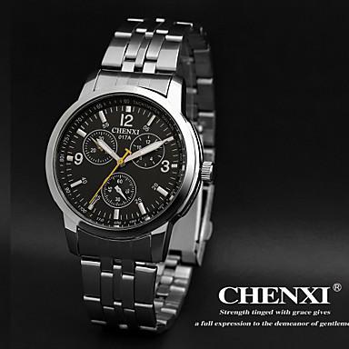 CHENXI® Heren Polshorloge Kwarts Japanse quartz Roestvrij staal Band Zilver