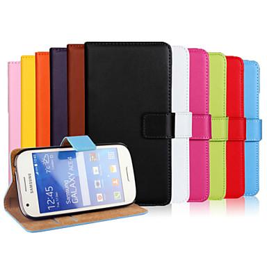 Para Samsung Galaxy Capinhas Carteira / Porta-Cartão / Com Suporte / Flip Capinha Corpo Inteiro Capinha Cor Única Couro PU SamsungAce