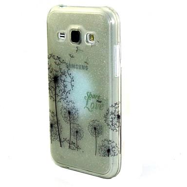 Para Samsung Galaxy Capinhas Case Tampa Estampada Capa Traseira Capinha dandelion PUT para Samsung Galaxy J7 J5 J1 Grand Prime Core Prime