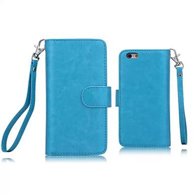 iphone 7 mais couro pu de design especial casos de corpo inteiro destacável carteira 9 cartão para iphone 6