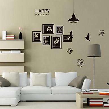 decalques de parede estilo adesivos de parede sob a parede pvc flor luz e pássaro adesivos