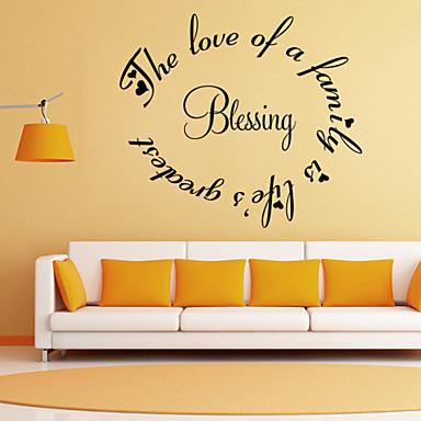 αυτοκόλλητα τοίχου αυτοκόλλητα τοίχου στυλ ευλογία αγγλικές λέξεις&αναφέρει αυτοκόλλητα PVC τοίχο