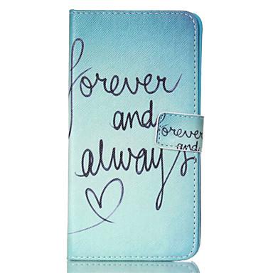 Para Samsung Galaxy Note Carteira / Porta-Cartão / Com Suporte / Flip Capinha Corpo Inteiro Capinha Palavra / Frase Couro PU SamsungNote