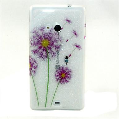 Για Θήκη Nokia Θήκες Καλύμματα Με σχέδια Πίσω Κάλυμμα tok Πικραλίδα Μαλακή TPU για Nokia Nokia Lumia 535