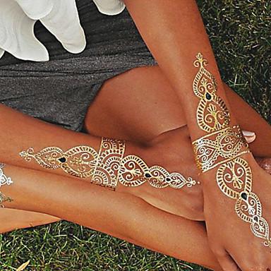 1 pcs Tattoo Aufkleber Temporary Tattoos Schmuck Serie Wasserfest / Non Toxic / Hawaiianisch Körperkunst / Unterer Rückenbereich / Waterproof