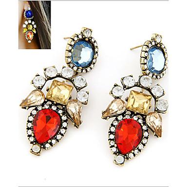 Dames Druppel oorbellen Europees Opvallende sieraden Modieus Kleurrijk Synthetische Edelstenen Legering Sieraden