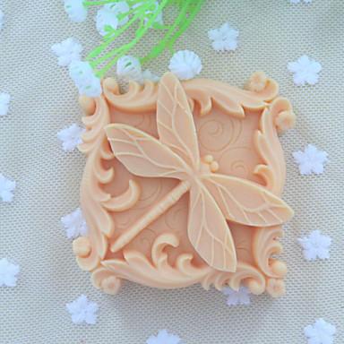 sabão animais molde do bolo fondant de chocolate do molde de silicone libélula, ferramentas de decoração artigo de forno