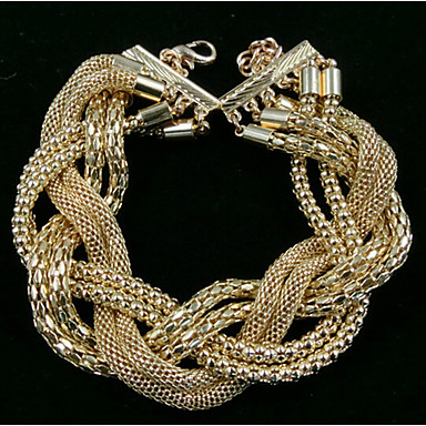 Kubieke Zirkonia Schattig Lederen armbanden - Feest Statement Eenvoudige Stijl Goud Armbanden Voor Kerstcadeaus