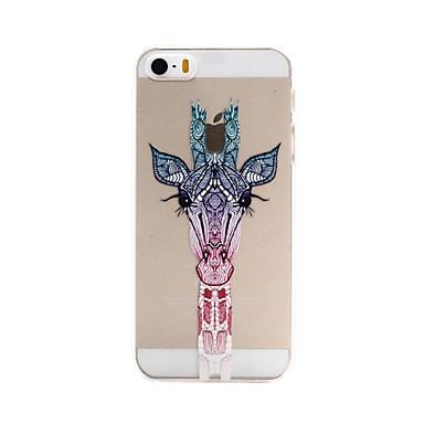 Capinha Para iPhone 5 Apple Capinha iPhone 5 Transparente Estampada Capa traseira Animal Rígida PC para iPhone SE/5s iPhone 5