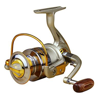 Molinetes de Pesca Molinetes Rotativos 5.5:1 10 Rolamentos Canhoto Pesca de Mar Pesca Voadora Isco de Arremesso Pesca no Gelo Rotação