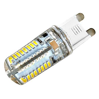 Zweihnder G9 5W 450LM 2700-3000K 64x3014 SMD Warm Light Waterproof Silicone Lamp (AC 220-240V,1Pcs)
