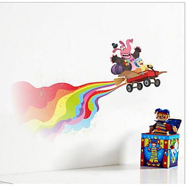 iinside έξω ευτυχισμένος ταινία διακόσμηση παιδιά αυτοκόλλητο τοίχου υπνοδωμάτιο