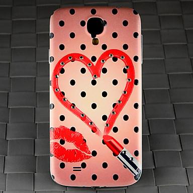 τρυπάνι και μαύρες κηλίδες κραγιόν σχέδιο καρδιάς pc πίσω κάλυψη περίπτωσης για το Samsung Galaxy S4 / 9500