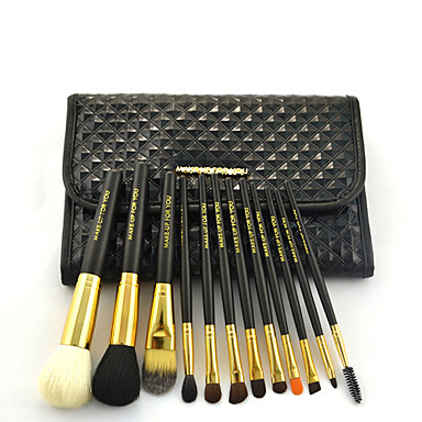 12 Conjuntos de pincel Escova de Cabelo de Cabra / Escova Poney / Escova de Nailom / Pêlo Sintético / CavaloProfissional / Cobertura