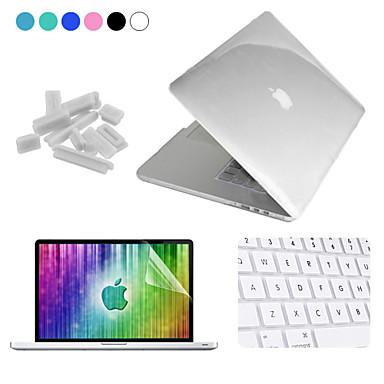 Capa para MacBook para Côr Sólida Transparente Plástico MacBook Pro 15 Polegadas com Retina Display