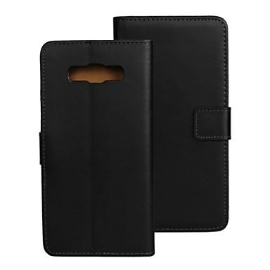 Недорогие Чехлы и кейсы для Galaxy A7-Кейс для Назначение SSamsung Galaxy A8 / A7 / A5 Бумажник для карт / со стендом / Флип Чехол Однотонный Кожа PU
