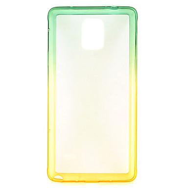 ag, nm εξαίσια σειρά πράσινο κλίση σε κίτρινο TPU πίσω κάλυψη περίπτωσης για Samsung Galaxy note4