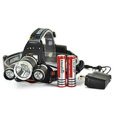 Lanternas de Cabeça / Faixa Para Lanterna de Cabeça LED 5000 Lumens 4.0 Modo Cree XM-L T6 Recarregável / Emergência / autodefesa Ciclismo