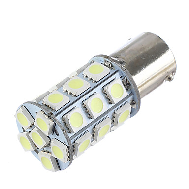 Lorcoo bay15d 1156 27 smd 5050 led auto staart stop remslag signaal licht wit 12v (1pc