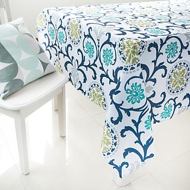 schilderij bloem gedrukt tafelkleed